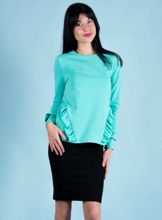 Туника женская Мерилэнд с рюшамиТуники, рубашки и блузы<br><br><br>Размер: Ментол