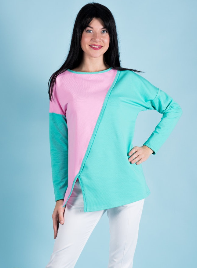 Туника женская Огайо с длинным рукавомТуники, рубашки и блузы<br><br><br>Размер: 48