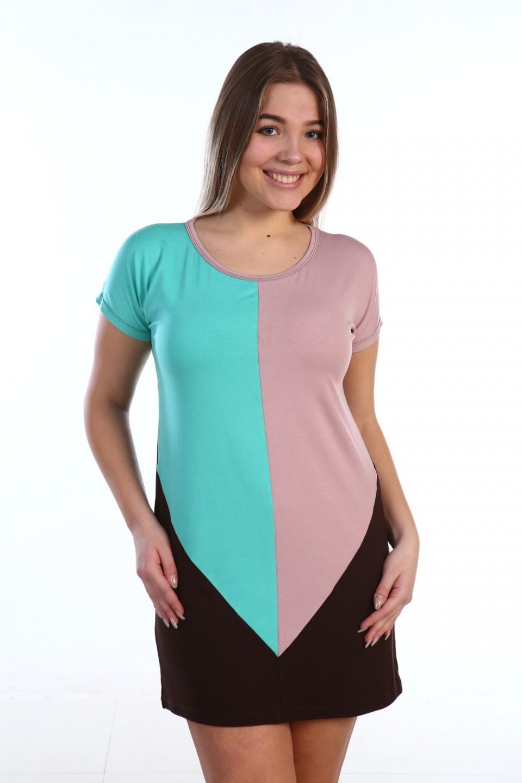 Туника женская Рута с круглым вырезомТуники, рубашки и блузы<br><br><br>Размер: 48