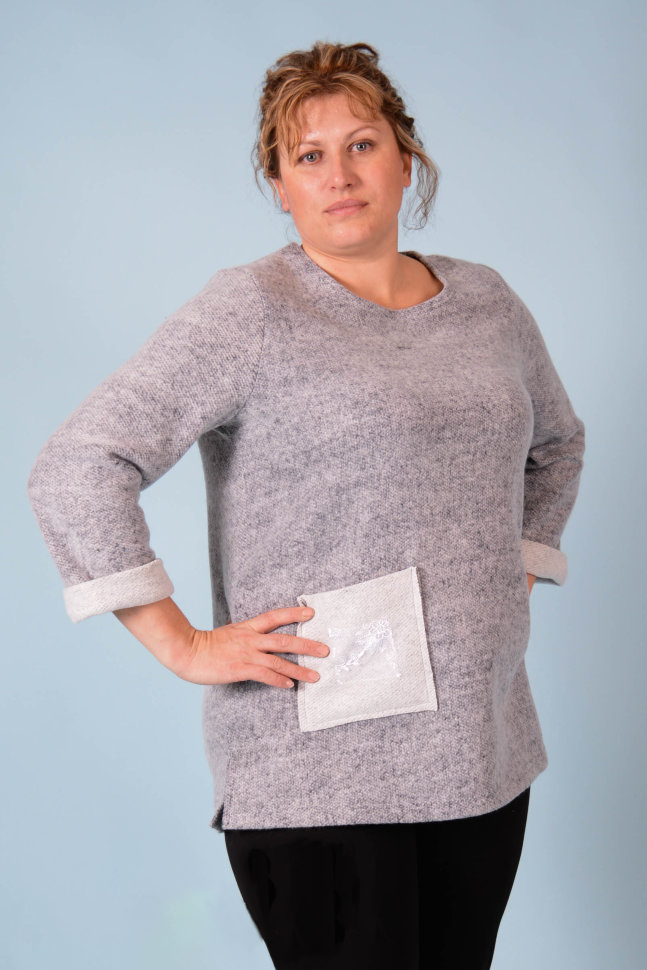 Туника женская Влада с длинным рукавомТуники, рубашки и блузы<br><br><br>Размер: 54