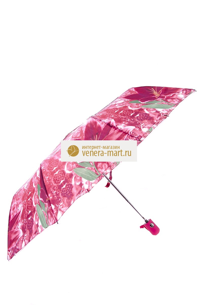 Зонт женский Лидия полуавтоматическийПодарки на День рождения<br><br><br>Размер: Чёрный