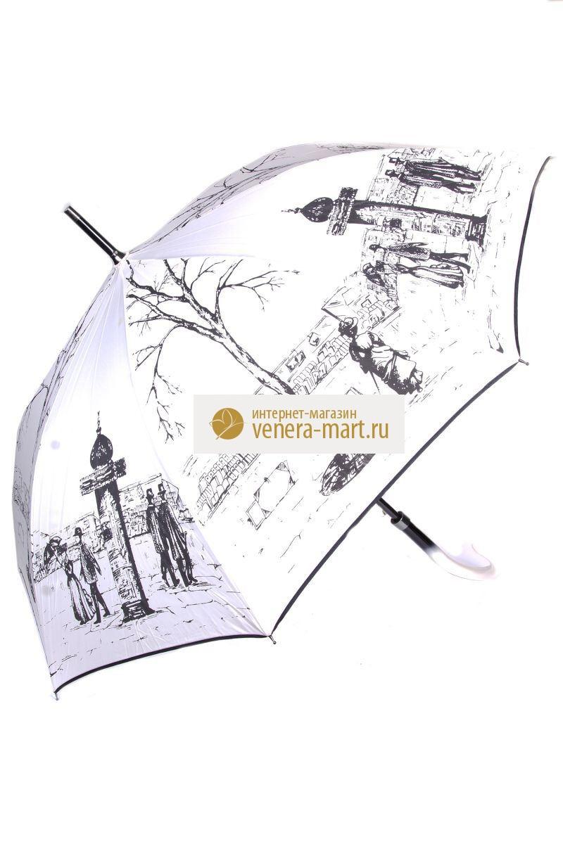 Зонт-трость женский Променад полуавтоматическийПодарки на День рождения<br><br>