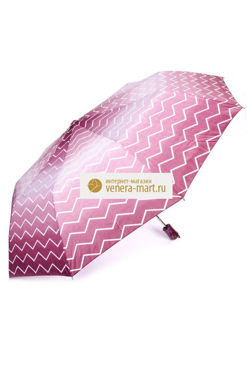 Зонт женский Зигзаг полуавтоматическийПодарки на День рождения<br><br><br>Размер: Коричневый