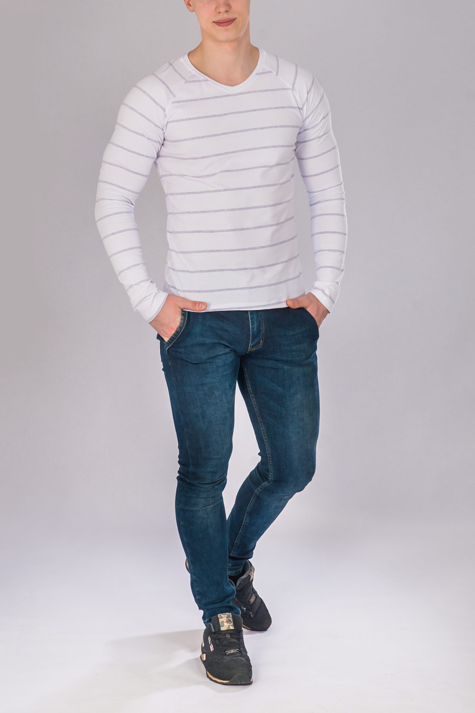 Джемпер мужской Капитан с длинным рукавомКоллекция ВЕСНА-ЛЕТО<br><br><br>Размер: 48
