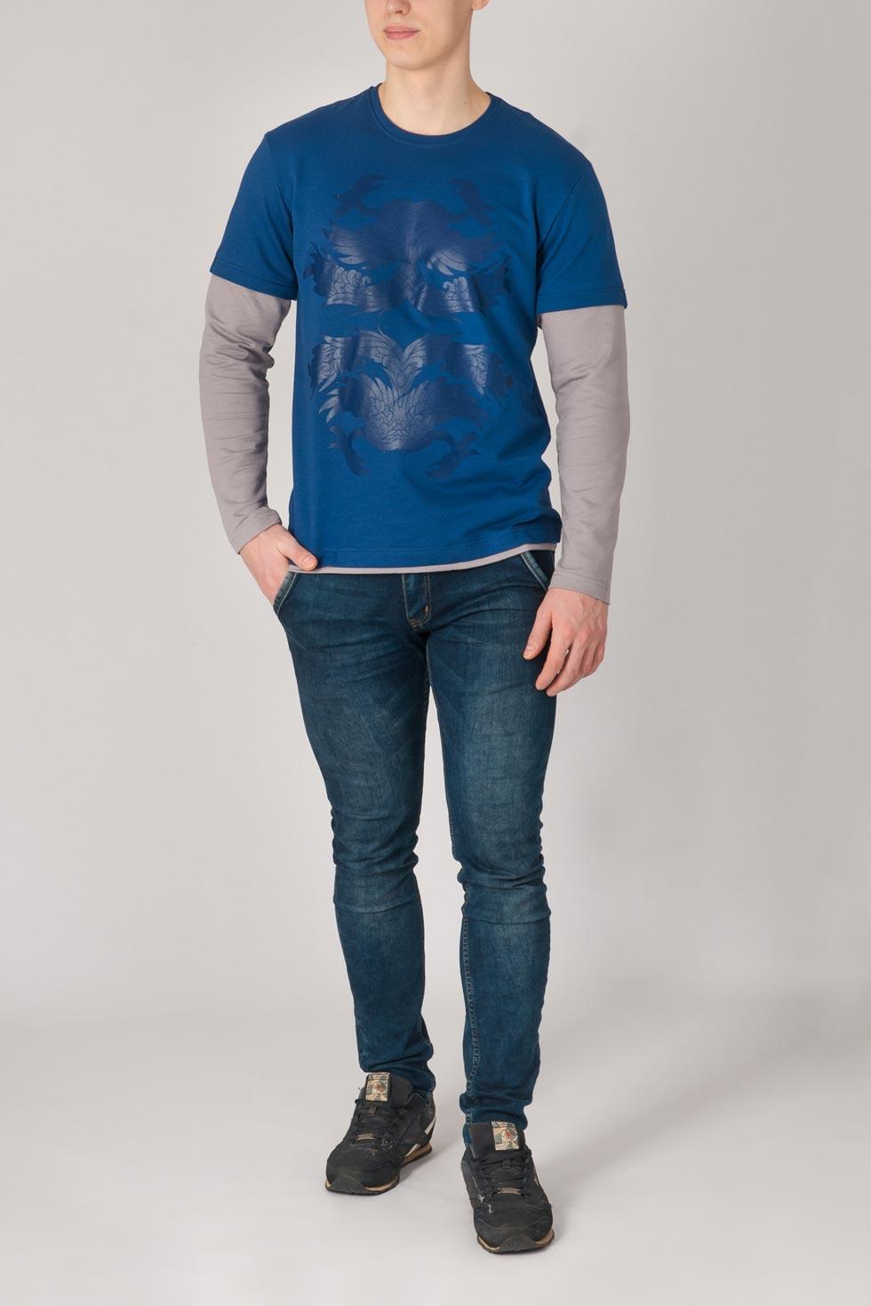 Джемпер мужской Дракон с длинным рукавомКоллекция ВЕСНА-ЛЕТО<br><br><br>Размер: 46