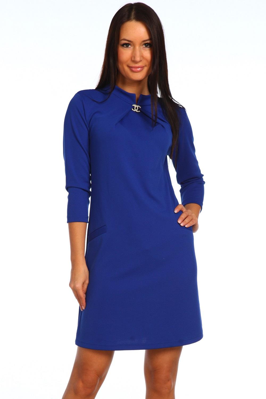 Платье женское Виа с воротником-стойкойКоллекция ОСЕНЬ-ЗИМА<br><br><br>Размер: 46