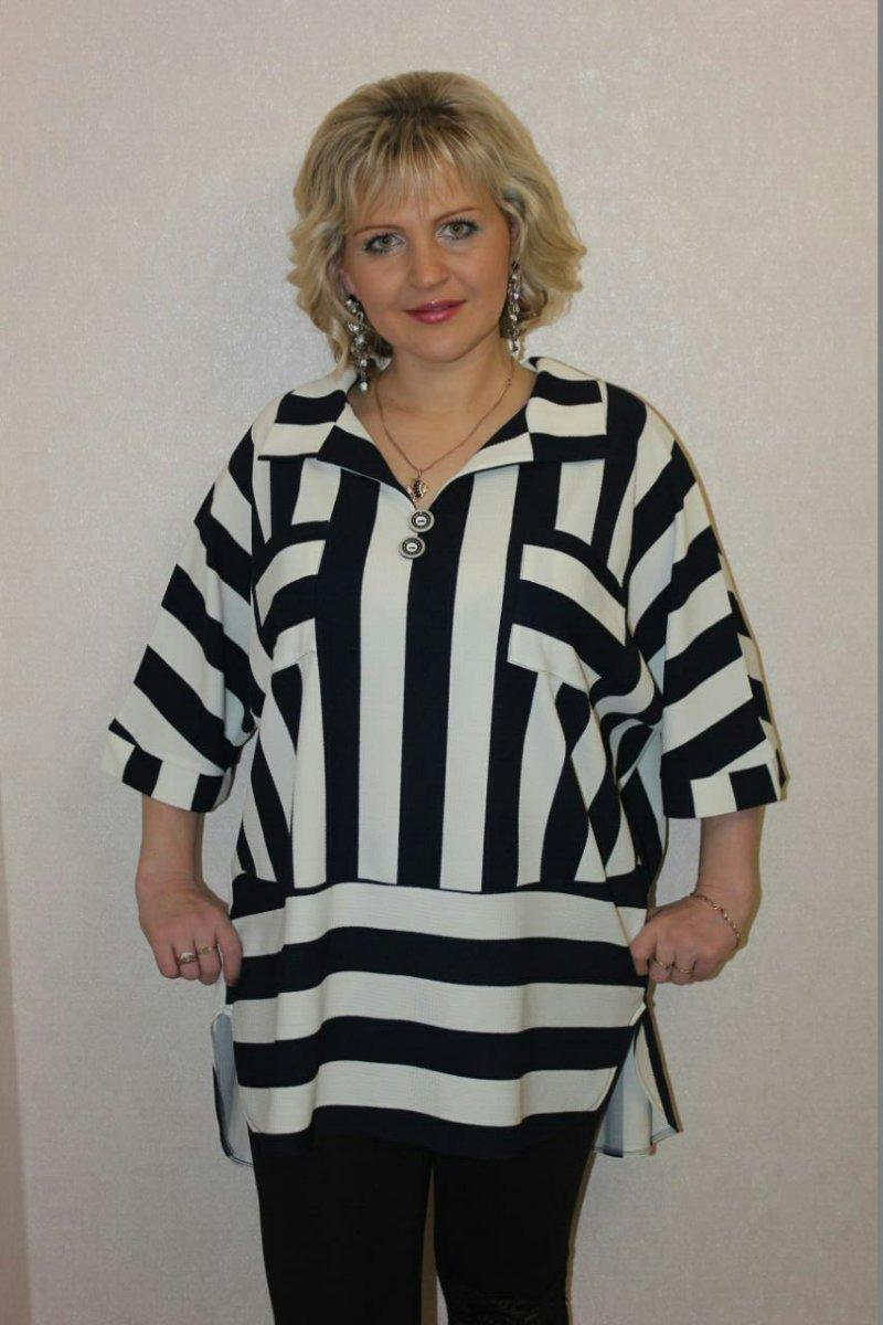 Туника женская Лидия с отложным воротникомКоллекция ВЕСНА-ЛЕТО<br><br><br>Размер: 64