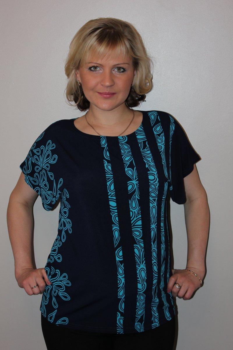 Блузка женская Наяда с коротким рукавомКоллекция ВЕСНА-ЛЕТО<br><br><br>Размер: 52