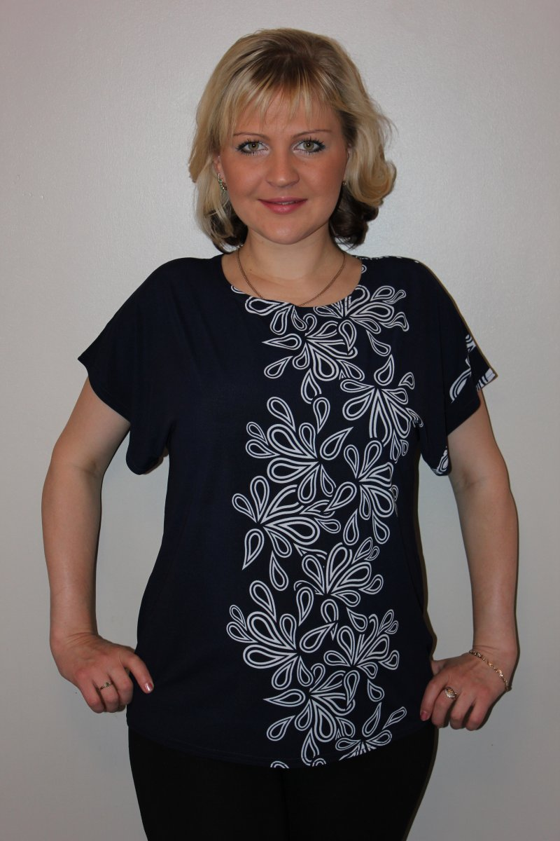 Блуза женская Орегано с коротким рукавомКоллекция ВЕСНА-ЛЕТО<br><br><br>Размер: 54