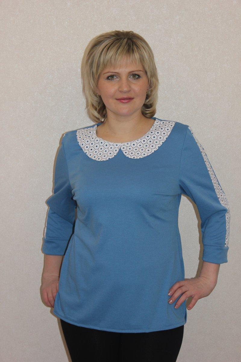 Блуза женская Ваниль с отложным воротникомКоллекция ВЕСНА-ЛЕТО<br><br><br>Размер: 46