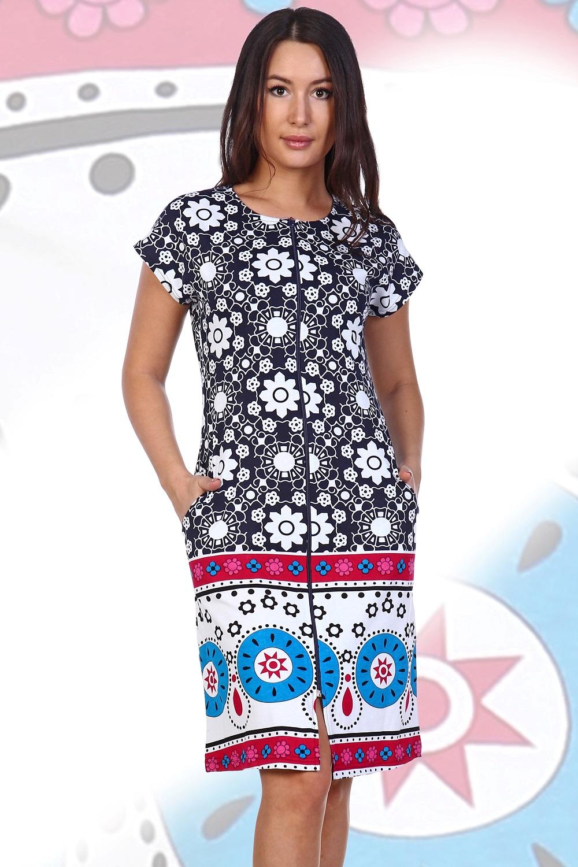 Халат женский Арлетта на молнииДомашняя одежда<br><br><br>Размер: 48