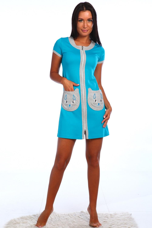 Халат женский Сафира на молнииКоллекция ВЕСНА-ЛЕТО<br><br><br>Размер: 48