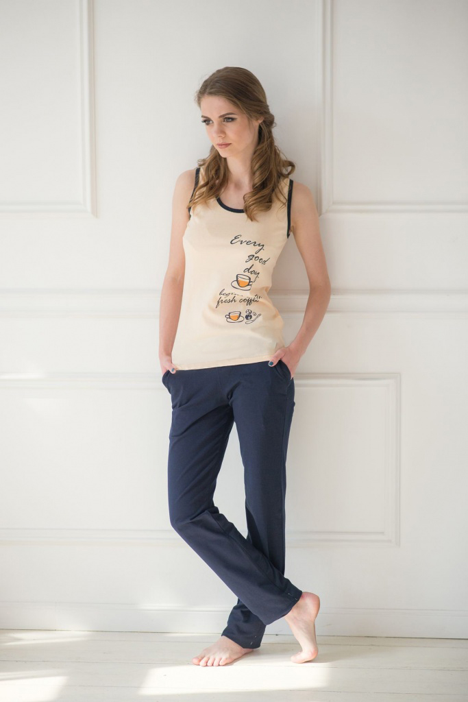 Комплект женский Every Day майка и брюкиКоллекция ВЕСНА-ЛЕТО<br><br><br>Размер: 44
