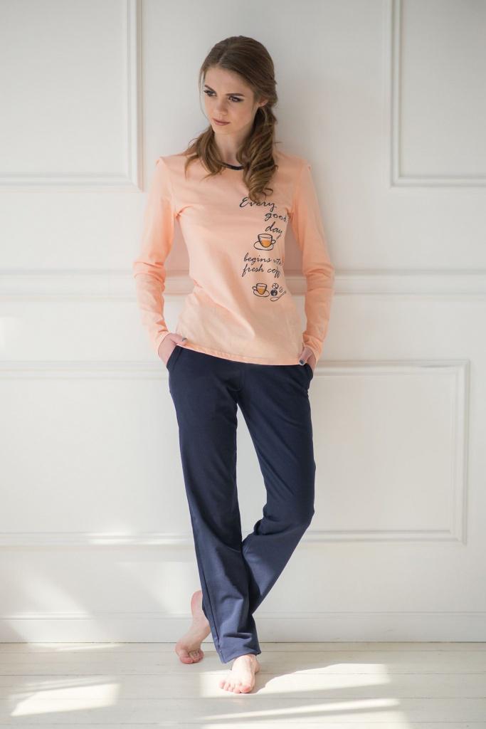 Комплект женский Fresh coffee блузка и брюкиКоллекция ВЕСНА-ЛЕТО<br><br><br>Размер: 44
