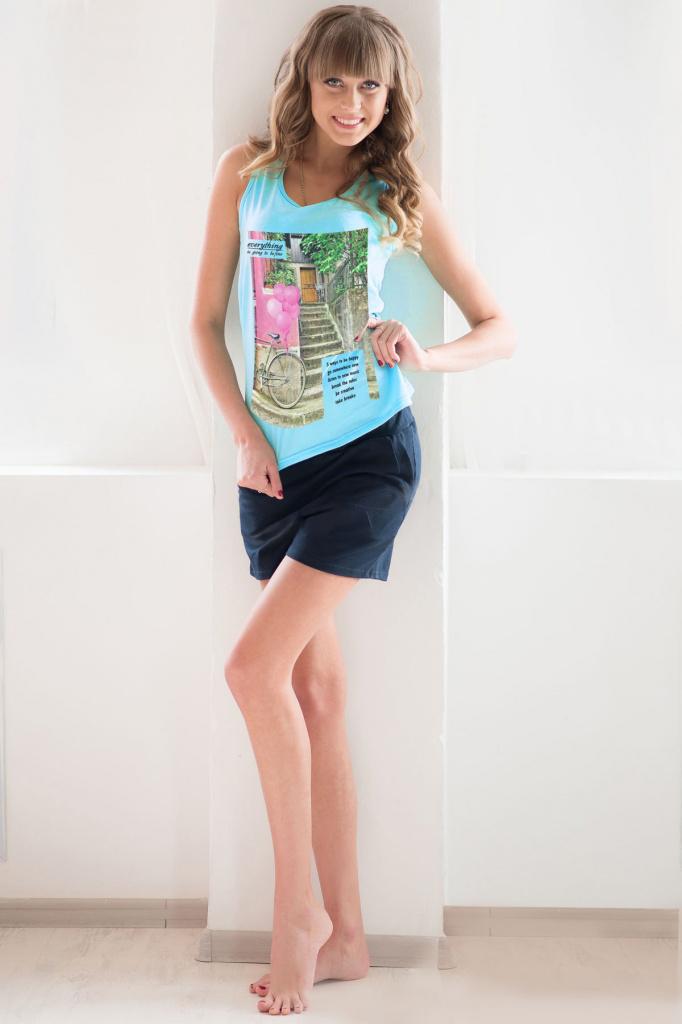Комплект женский Майами майка и шортыКоллекция ВЕСНА-ЛЕТО<br><br><br>Размер: 44