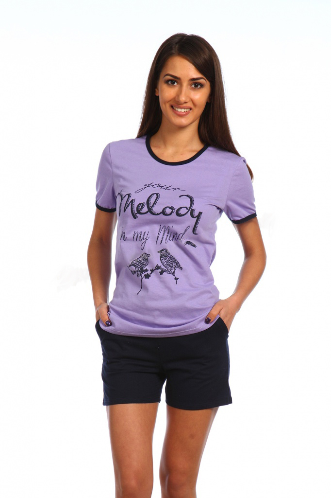 Комплект женский Melody футболка и шортыКоллекция ВЕСНА-ЛЕТО<br><br><br>Размер: 52