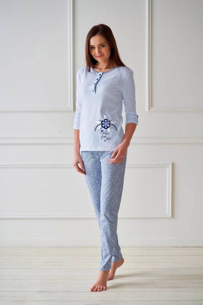 Костюм женский Рианна блуза и брюкиКоллекция ВЕСНА-ЛЕТО<br><br><br>Размер: 44