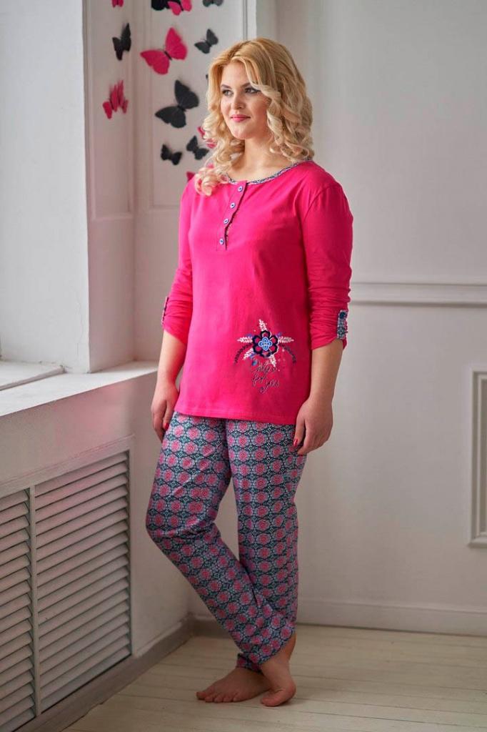 Костюм женский Римма блуза и брюкиКоллекция ВЕСНА-ЛЕТО<br><br><br>Размер: 50