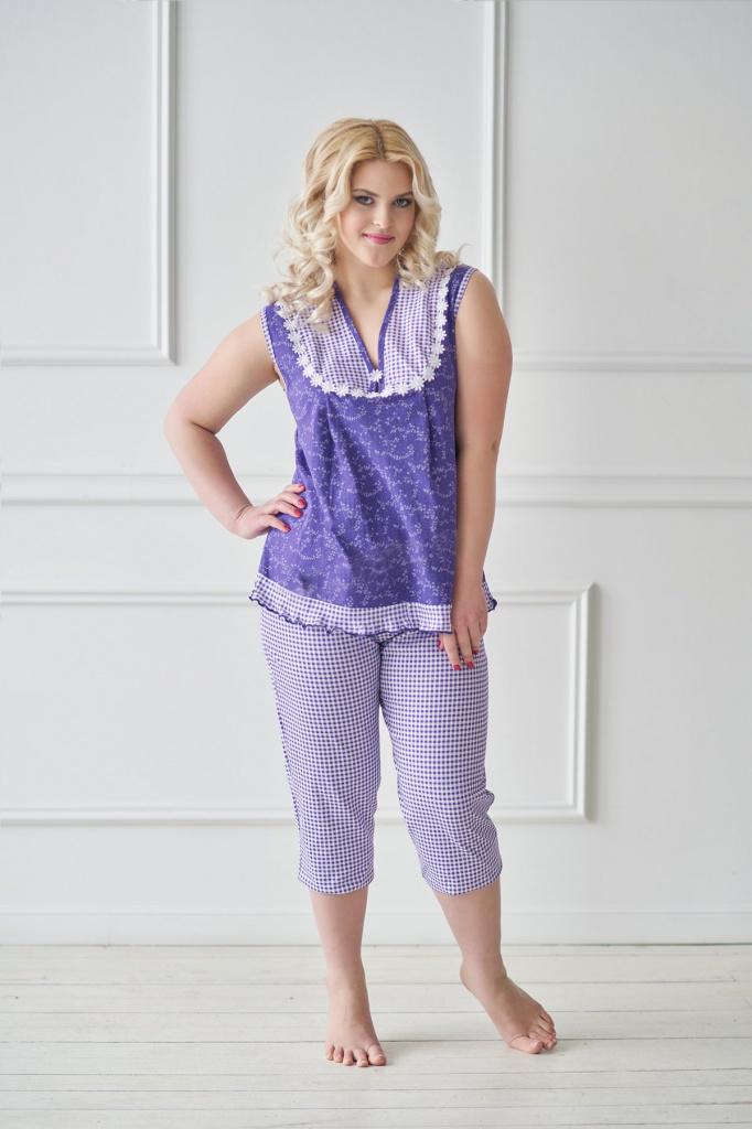 Пижама женская Джил футболка и бриджиКоллекция ВЕСНА-ЛЕТО<br><br><br>Размер: 56