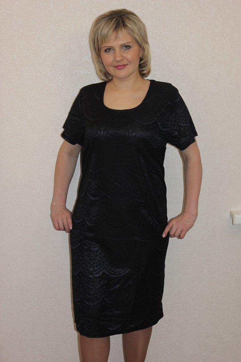 Платье женское Атлас с коротким рукавомКоллекция ВЕСНА-ЛЕТО<br><br><br>Размер: 58