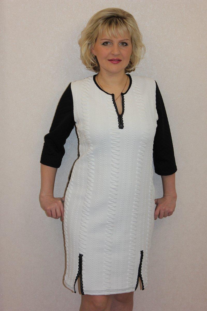 Платье женское Елена с рукавом 3/4Платья и сарафаны<br><br><br>Размер: 46