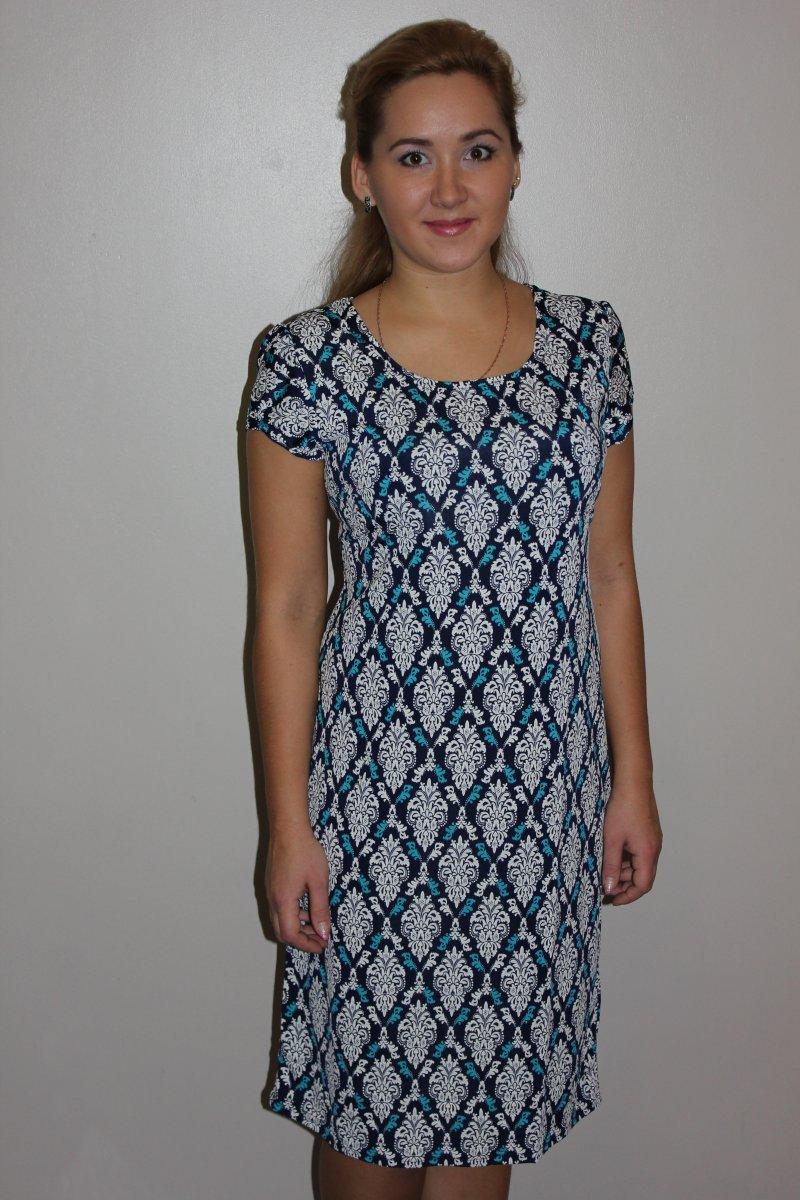 Платье женское Карина с коротким рукавомКоллекция ВЕСНА-ЛЕТО<br><br><br>Размер: 48