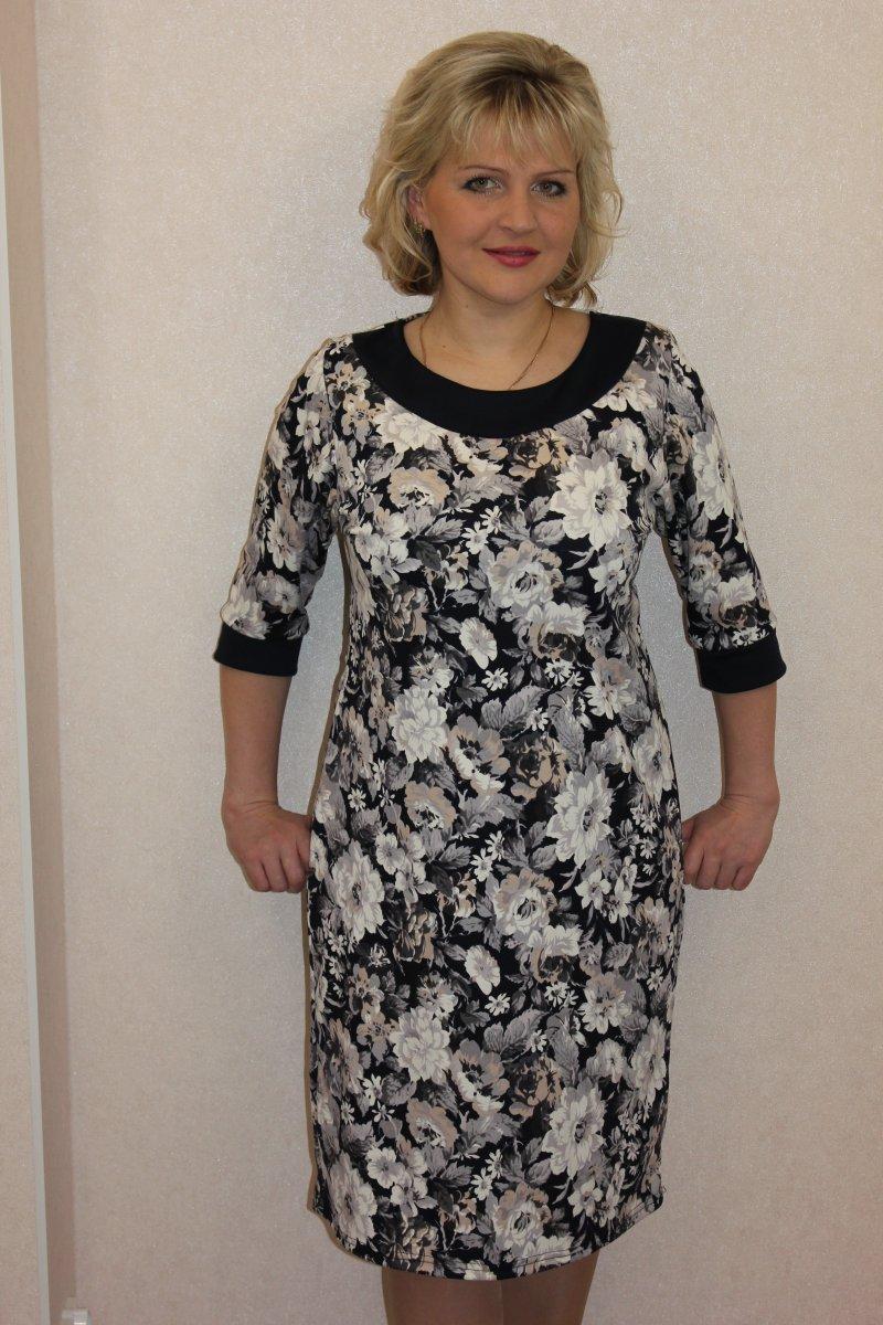 Платье женское Романтика с рукавом 3/4Коллекция ВЕСНА-ЛЕТО<br><br><br>Размер: 46