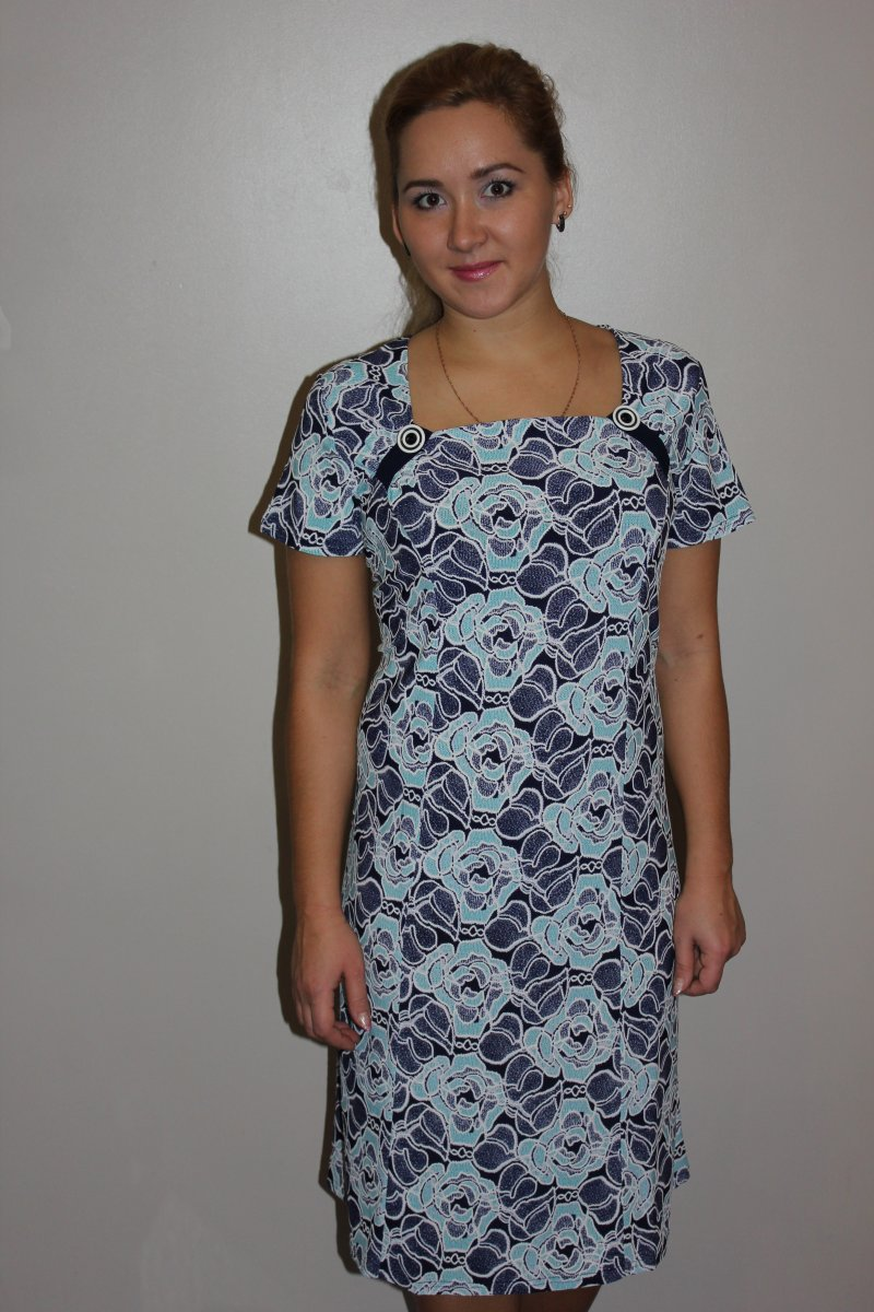 Платье женское Валентина с квадратным вырезомКоллекция ВЕСНА-ЛЕТО<br><br><br>Размер: 54