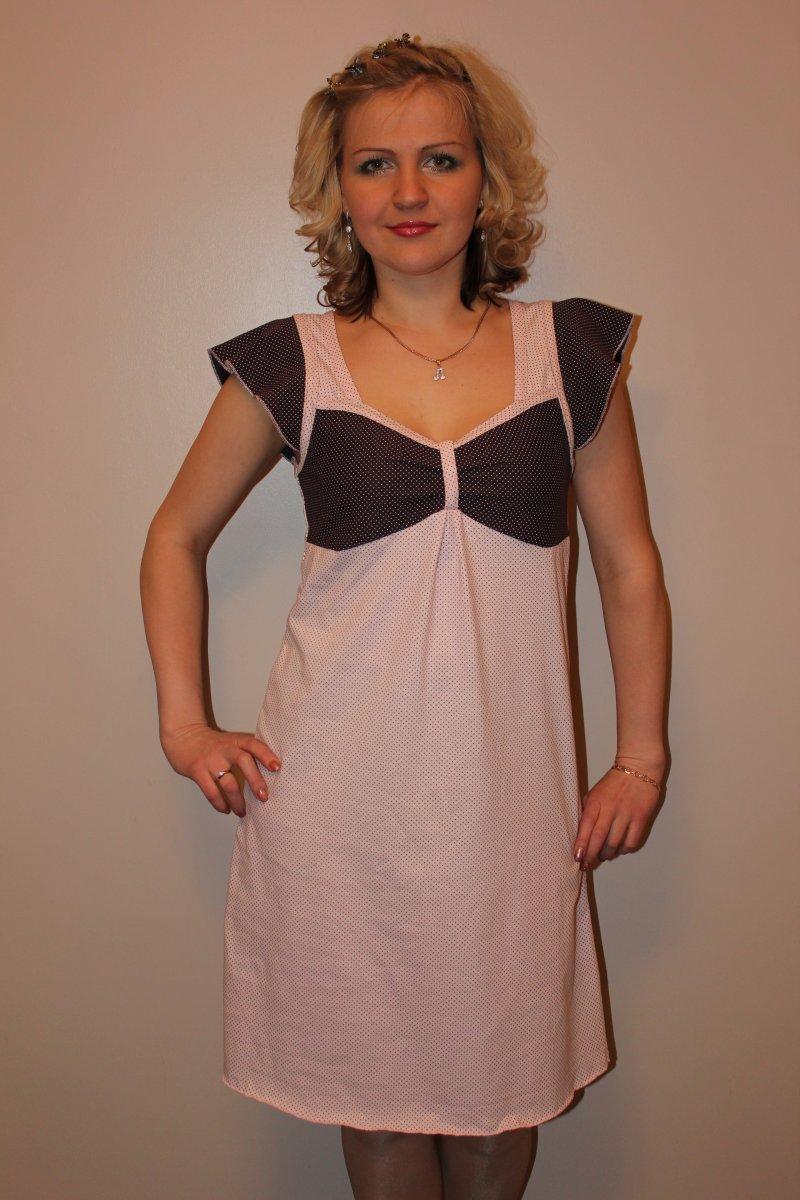 Сорочка женская Лада с коротким рукавомДомашняя одежда<br><br><br>Размер: 56