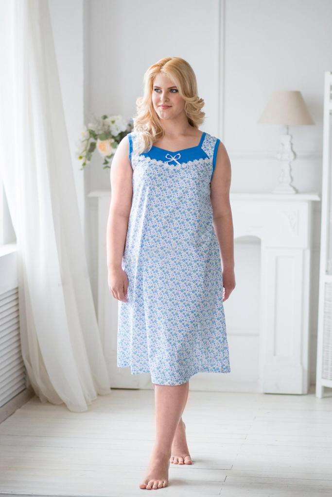 Сорочка женская Лора без рукавовКоллекция ВЕСНА-ЛЕТО<br><br><br>Размер: 52