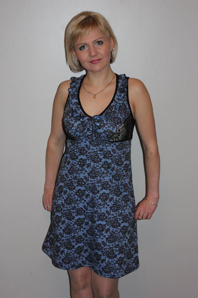 Сорочка женская Олимпия на широких бретеляхДомашняя одежда<br><br><br>Размер: 46