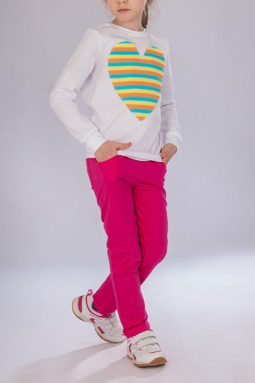 Брюки для девочки Ягода с карманамиКоллекция ВЕСНА-ЛЕТО<br><br><br>Размер: 128