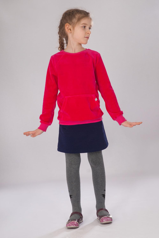 Джемпер для девочки Малинка с карманамиКоллекция ВЕСНА-ЛЕТО<br><br><br>Размер: 122