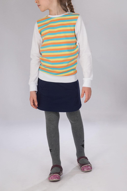Джемпер для девочки Полоска радуги с длинным рукавомКоллекция ВЕСНА-ЛЕТО<br><br><br>Размер: 128