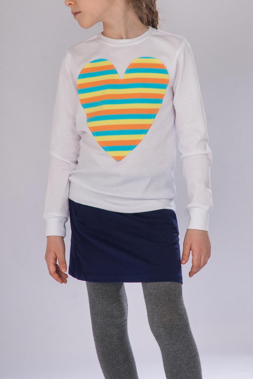 Джемпер для девочки Сердце радуги с длинным рукавомКоллекция ВЕСНА-ЛЕТО<br><br><br>Размер: 110