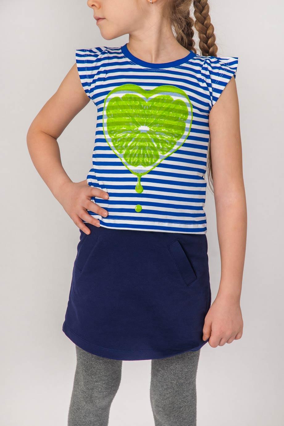 Майка для девочек Лайм с коротким рукавомКоллекция ВЕСНА-ЛЕТО<br><br><br>Размер: 110