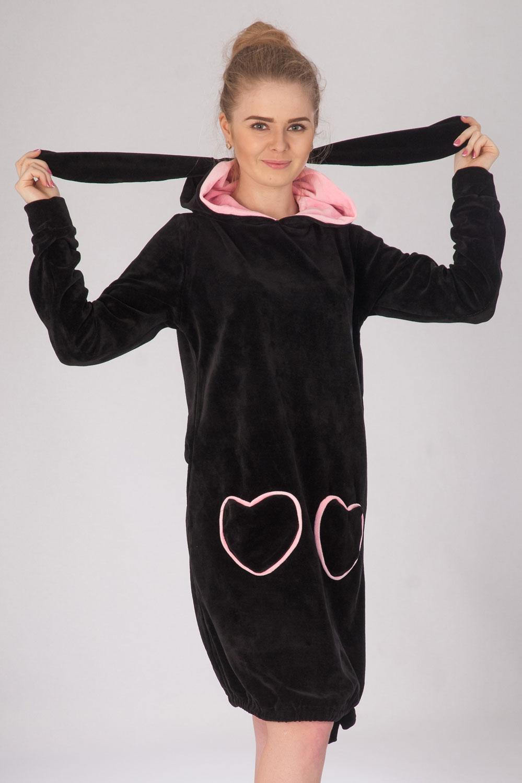Халат женский Заинька с капюшономКоллекция ВЕСНА-ЛЕТО<br><br><br>Размер: 44