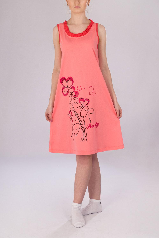 Сорочка женская Beauty из кулиркиКоллекция ВЕСНА-ЛЕТО<br><br><br>Размер: 44