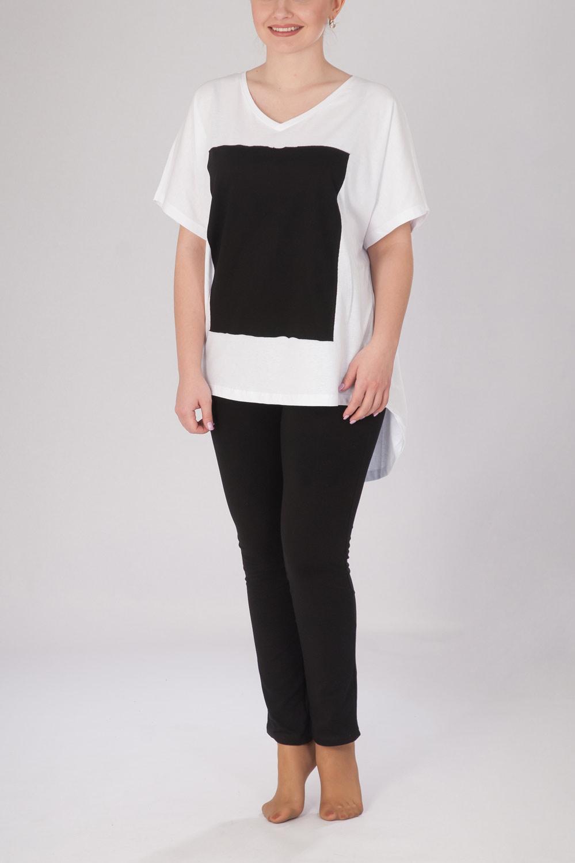 Туника женская Черный квадрат с коротким рукавомКоллекция ВЕСНА-ЛЕТО<br><br><br>Размер: 48