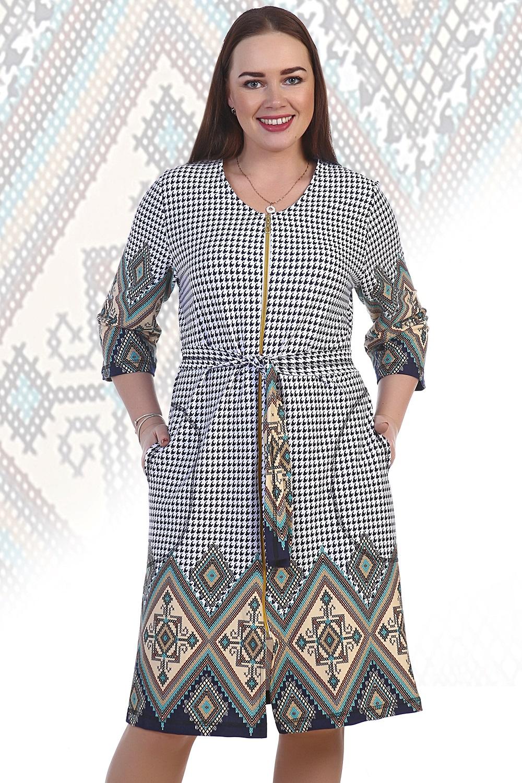 Халат женский Анюта на молнииДомашняя одежда<br><br><br>Размер: 56