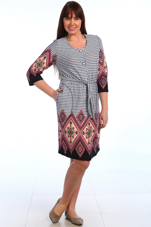 Халат женский Глаша с поясомДомашняя одежда<br><br><br>Размер: 52