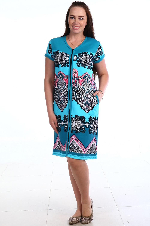 Халат женский Изумруд на молнииХалаты<br><br><br>Размер: 58