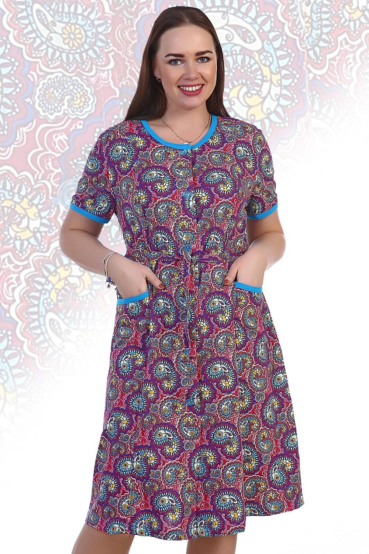 Халат женский Карамель с поясомДомашняя одежда<br><br><br>Размер: 62