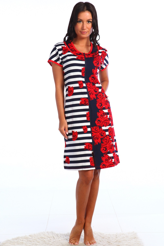 Халат женский Лана на молнииДомашняя одежда<br><br><br>Размер: 52