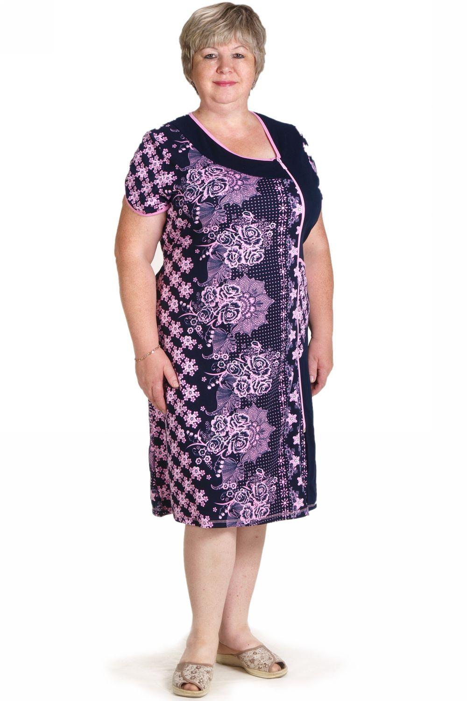Халат женский Летний вечер с коротким рукавомДомашняя одежда<br><br><br>Размер: 52