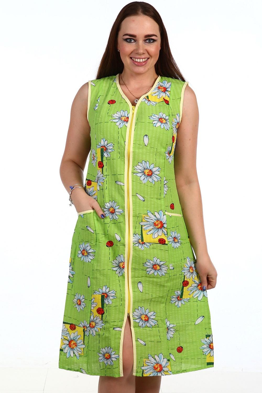 Халат женский Мила на молнииДомашняя одежда<br><br><br>Размер: 60