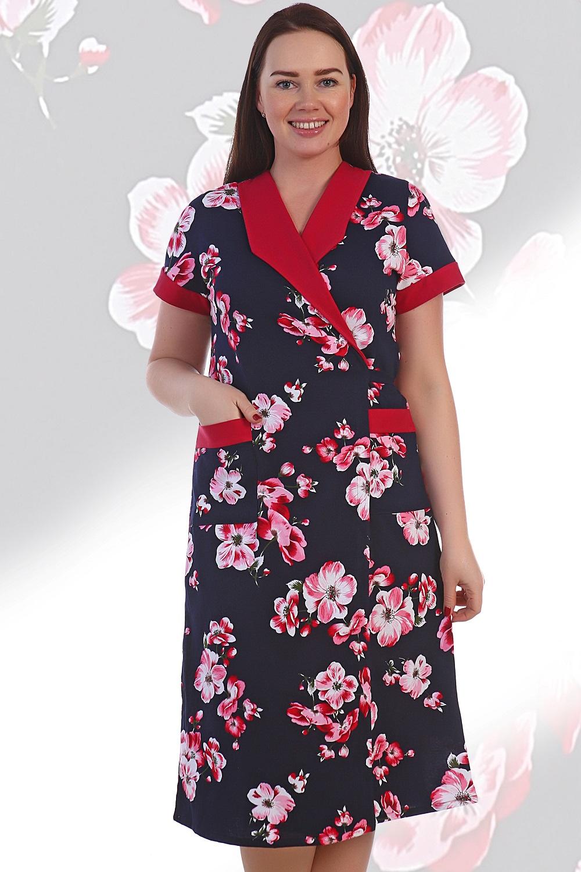 Халат женский Осака с поясомДомашняя одежда<br><br><br>Размер: Красный
