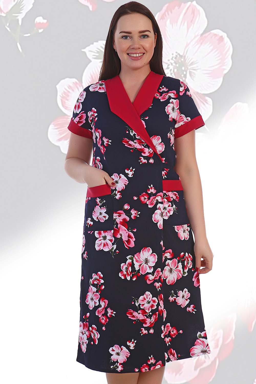 Халат женский Осака с поясомДомашняя одежда<br><br><br>Размер: 60