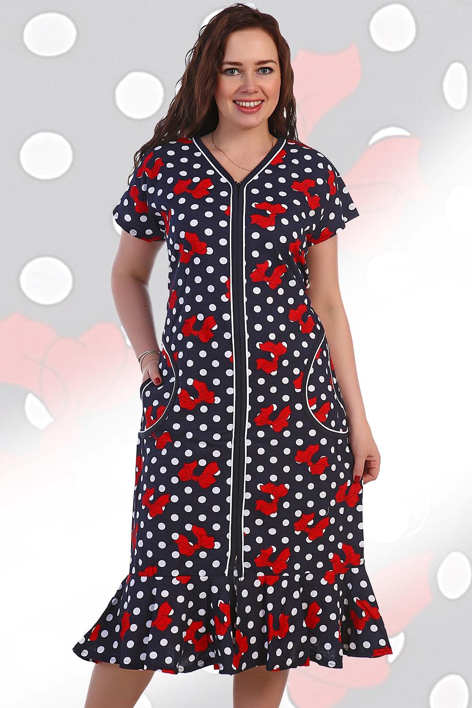 Халат женский Волан на молнииДомашняя одежда<br><br><br>Размер: 58