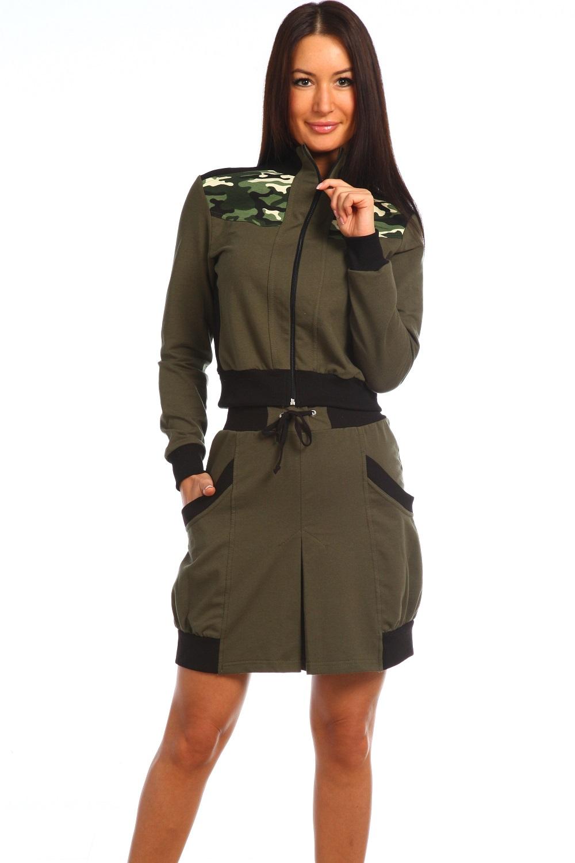 Костюм женский Soldier куртка и юбкаКоллекция ВЕСНА-ЛЕТО<br><br><br>Размер: 50